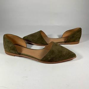 Madewell Lydia D'Orsay Brown Suede Flats
